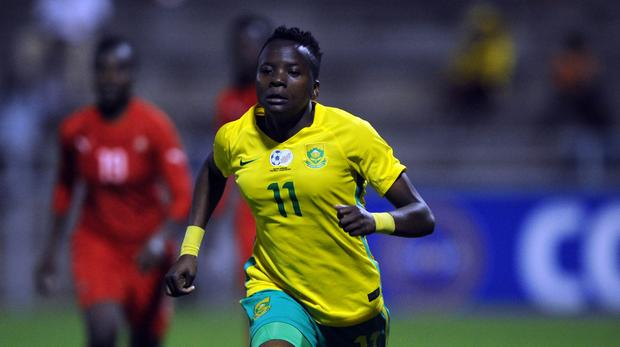 Thembi Kgatlana in action for Banyana against Namibia in the Cosafa Cup. Photo: Sydney Mahlangu /BackpagePix