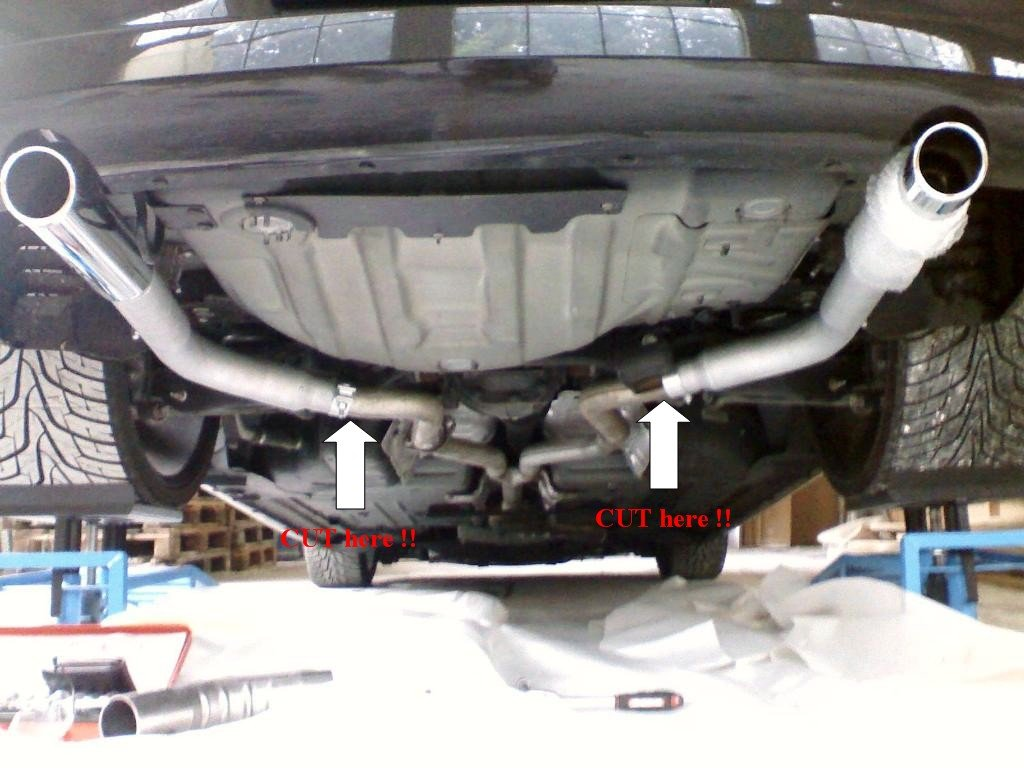 change exhaust pipes on a crd 300c
