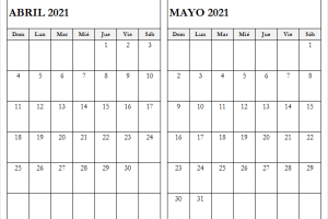 Calendario Abril Mayo 2021 En Colombia