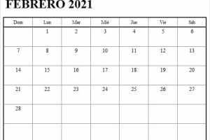 Imagen Calendario Mes De Febrero 2021