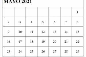 Imagen De Calendario Mayo 2021