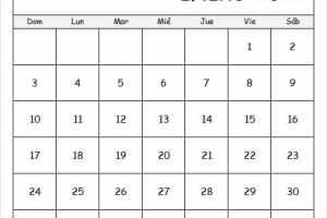 Calendario Bomberos Enero 2021