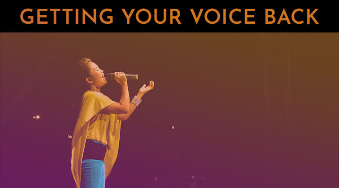 how to get your voice back