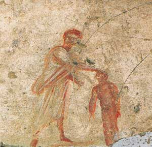 Baptism, Catacombs of Saint Callistus, Rome
