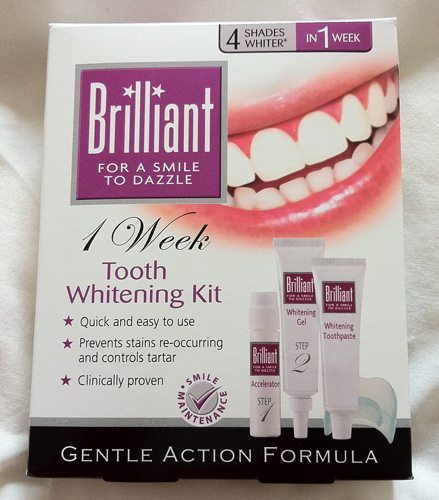 Review Brilliant 1 Week Tooth Whitening Kit Part 1 30somethingmel