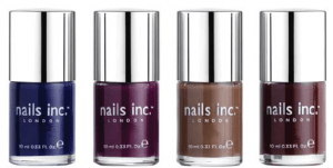 Nails Inc Autumn/Winter Collection 2013 - (L-R) : Old Bond Street, St. Martin's Lane, Oxford Street and Regent Street.