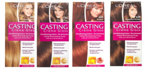 L'Oreal Castings Creme Gloss in (l-r)