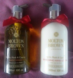 Molton Brown Myrrh Musk & Cypress Hand Wash and Lotion Set