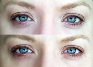Bourjois 123 Perfect CC Eye Cream in Ivory - (top) Before and (bottom) After