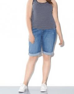 New Look Inspire Blue Denim Knee Boyfriend Shorts £17.99