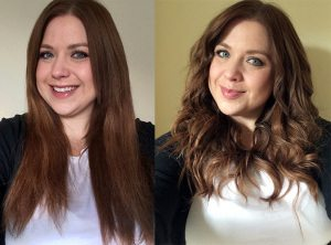 Before and After using the Babyliss Diamond Waves