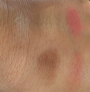 BH Cosmetics 6 Color Palette Contour & Blush swatches on hand