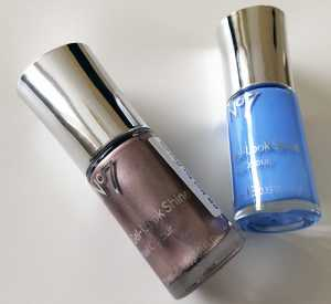 No7 Gel-Look Shine Nail Polishes in Rose Gold and Bluebell