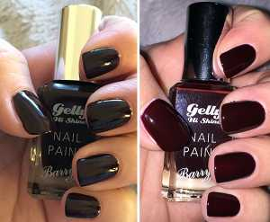Barry M Gelly Nail Polish in Black Cherry