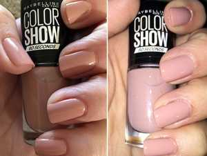 Maybelline Colour Show Nail Polish in Love This Sweater 301 swatch (left) No Flash (right) With Flash