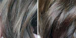 Scott Cornwall Colour Restore Chocolate - (Left) Before (Right) After