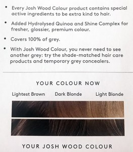 Josh Wood Colour Permanent Colour shade indication Dark Blonde 6.5