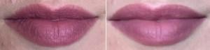 NYX Powder Puff Lippie Powder Lip Cream in Moody swatch on lips