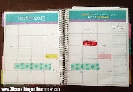 Erin Condren Life Planner Month View
