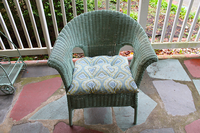 Exceptionnel During Painted Wicker Chair