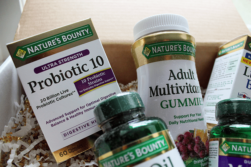 Nature's Bounty Vitamins and Supplements Close-up