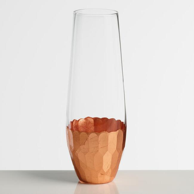 Stemless Copper Champagne Flute