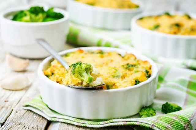 Oven Baked Broccoli and Cheddar Millet Casserole