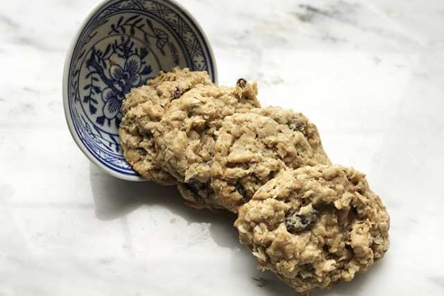 Healthier Whole Grain Soft and Chewy Oatmeal Raisin Cookies
