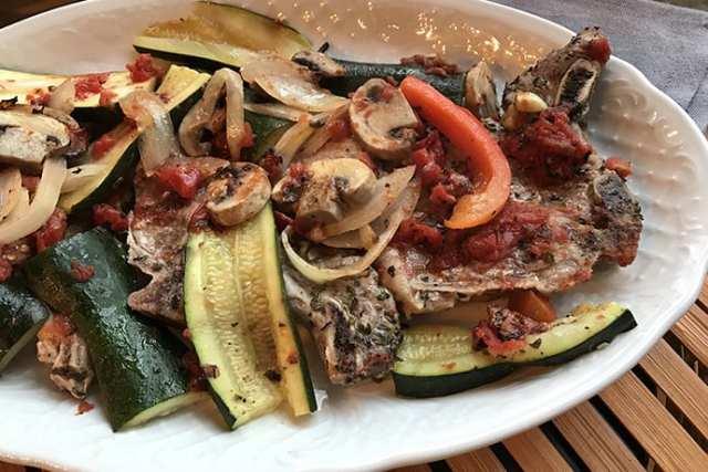 Italian Pork Chops and Veggies Sheet Pan Dinner