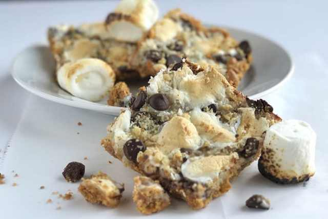 Gooey and Delicious Magic Slam Dunk S'more Bar Cookies