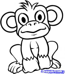 how to draw how to draw a monkey pictures to pin on pinterest
