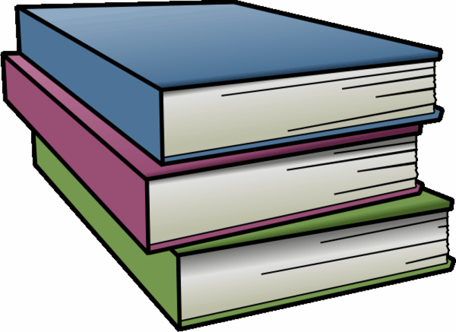 books clipart coloring pages to print