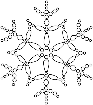 snowflake coloring pages 2 coloring pages to print