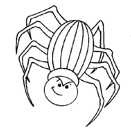 Scary Spider coloring page | Free Printable Coloring Pages | 461x450