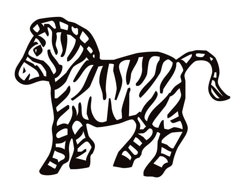 coloring pages of zebras cooloring com