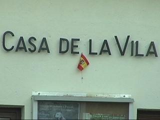 Imatge de la bandera espanyola que oneja a Gallifa