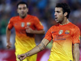 Cesc ha jugat de fals davanter i ha fet un bon partit (Foto: Reuters)