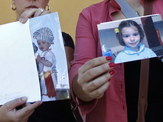 Fotografies dels dos nens desapareguts. (Foto: EFE)