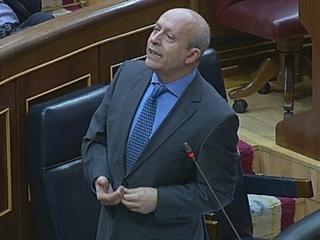 El ministre d'Educació, José Ignacio Wert, en sessió de control al Congrés