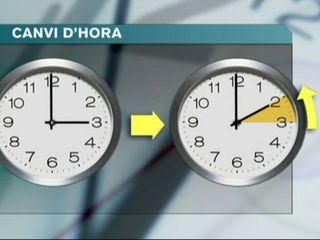 A les tres de la matinada s'hauran d'endarrerir una hora els rellotges