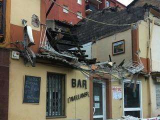 En aquest estat ha quedat l'edifici ensorrat. (Foto: @Jordi_Pons)