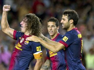 El Barça ve de golejar la Reial Societat en la primera jornada de Lliga. (Foto: EFE)