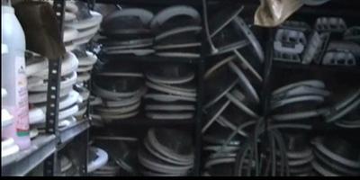 Imatge de part del material confiscat per la Guàrdia Civil.