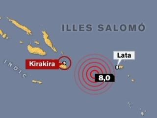 Imatge que mostra el punt on s'ha produït el sisme que ha causat el tsunami