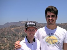 "Tobi und ich ""vor"" dem Hollywood Sign in Los Angeles"