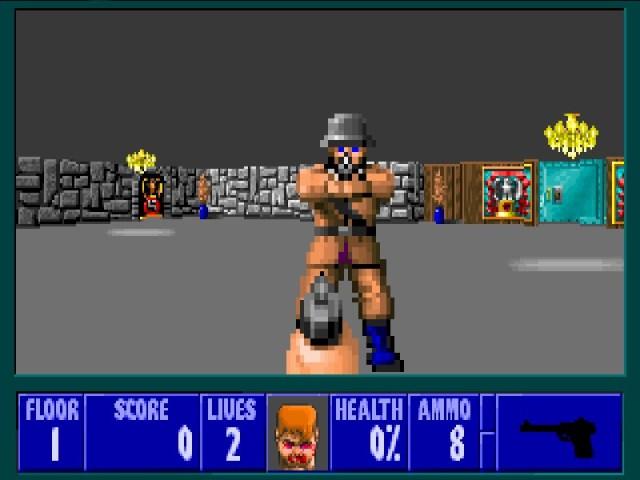 Wolfenstein 3D standoff