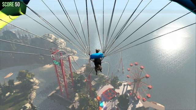 Goat Simulator parachute