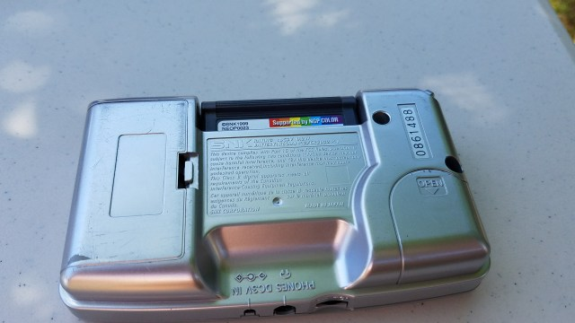 Neo Geo Pocket Color Back