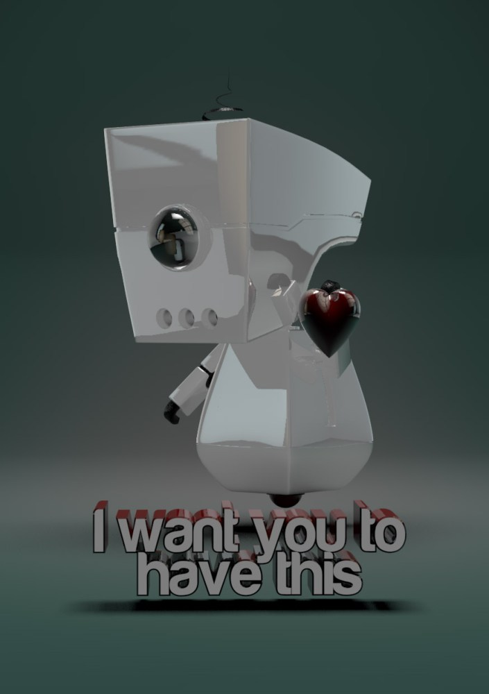 Love Robot 3D Model