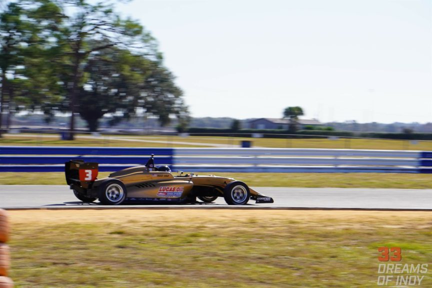 Reece Gold at Yacademy Winter Testing in Sebring with Cape Motorsports